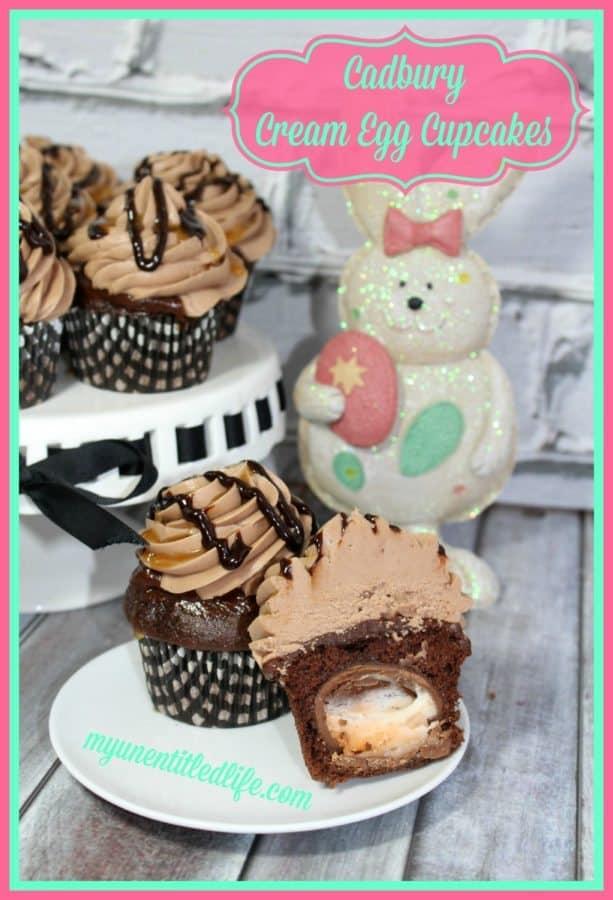 Cadbury Cream Egg Cupcakes
