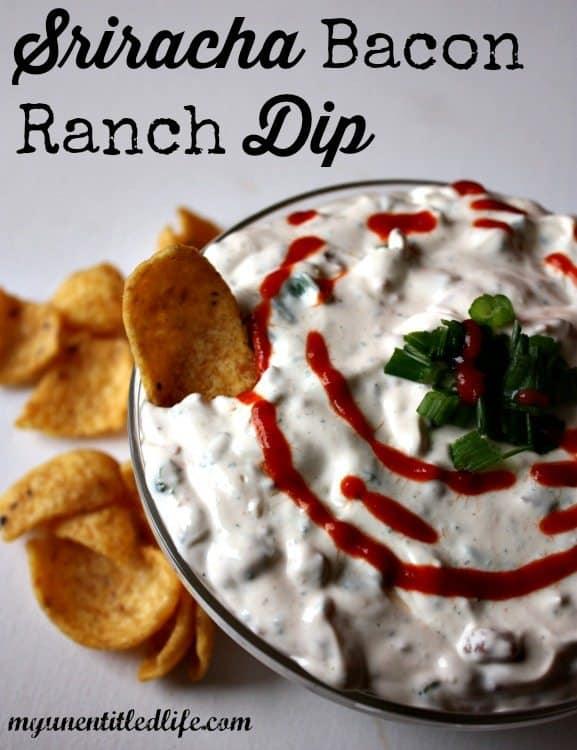 Sriracha Bacon Ranch Dip Recipe