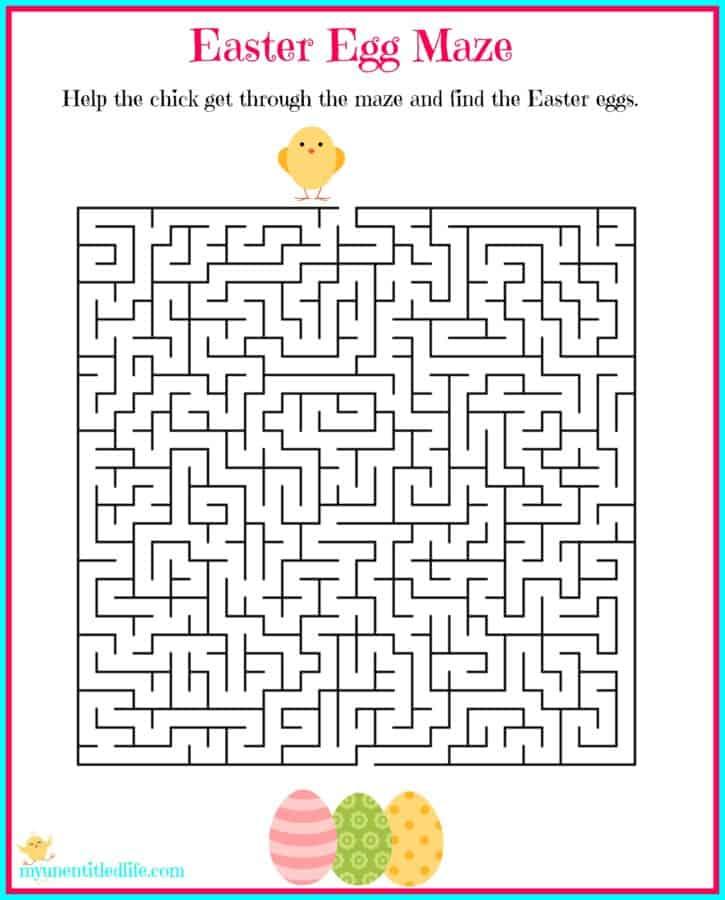 photograph regarding Easter Maze Printable called Easter Egg Maze Cost-free Printable