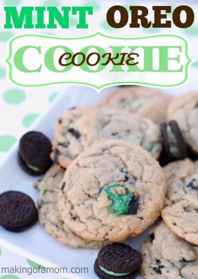 mint cookie in a cookie
