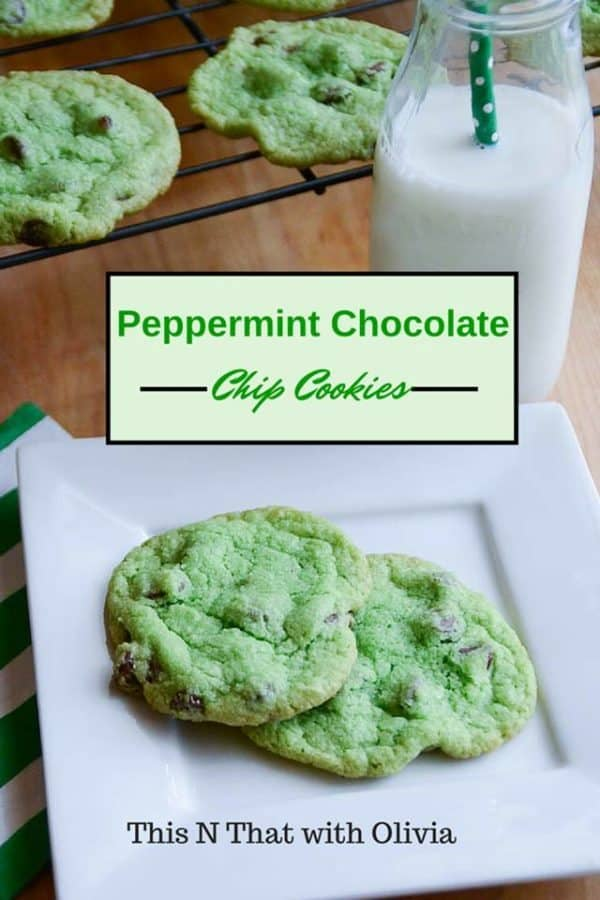 peppermint chocolate chip cookie