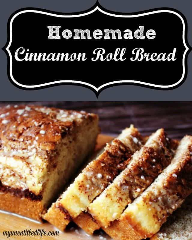Homemade Cinnamon Roll Bread