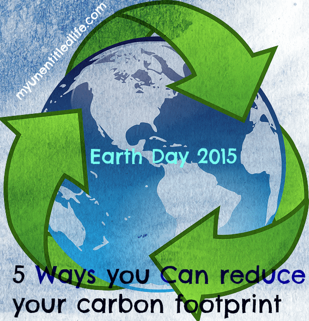 Earth Day 5 things you can do to reduce your carbon footprint this earth day.