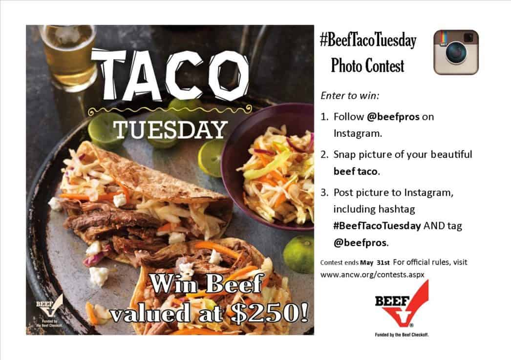 Beef Taco Tuesday photo contest