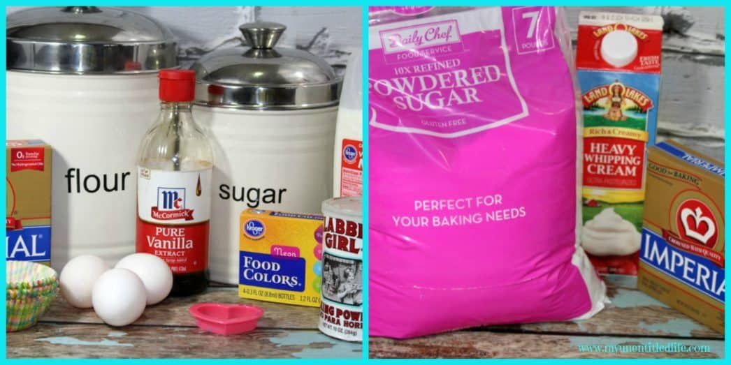 Gender Reveal Cupcakes Ingredients