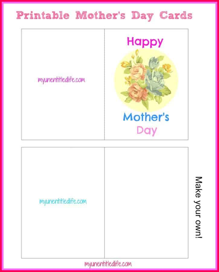 image regarding Printable Mother's Day Cards known as Free of charge Printable: Moms Working day Playing cards