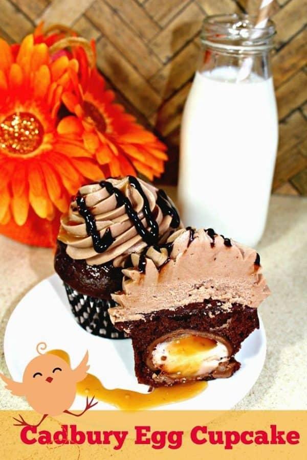 cadbury egg cupcake