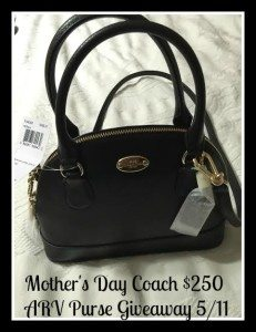 Coach purse giveaway 5/11 US