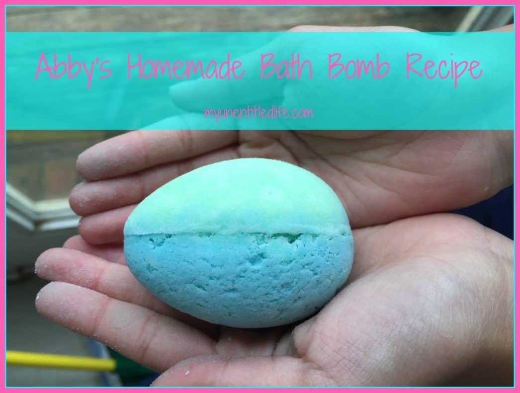 Abbys Homemade Bath Bomb Recipe