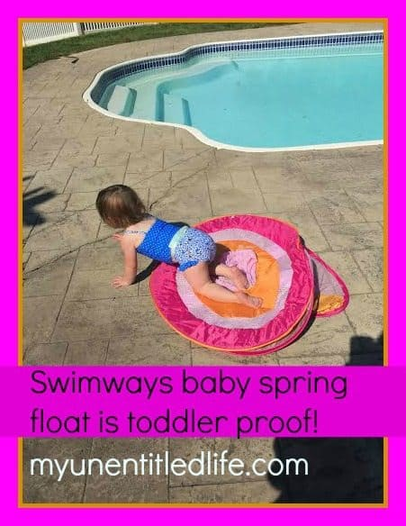 SwimWays floats are toddler proof