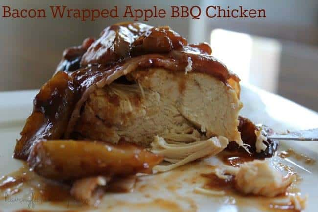bacon wrapped bbq apple chicken