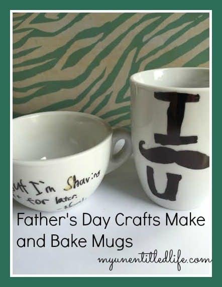 fathers day make and bake mug