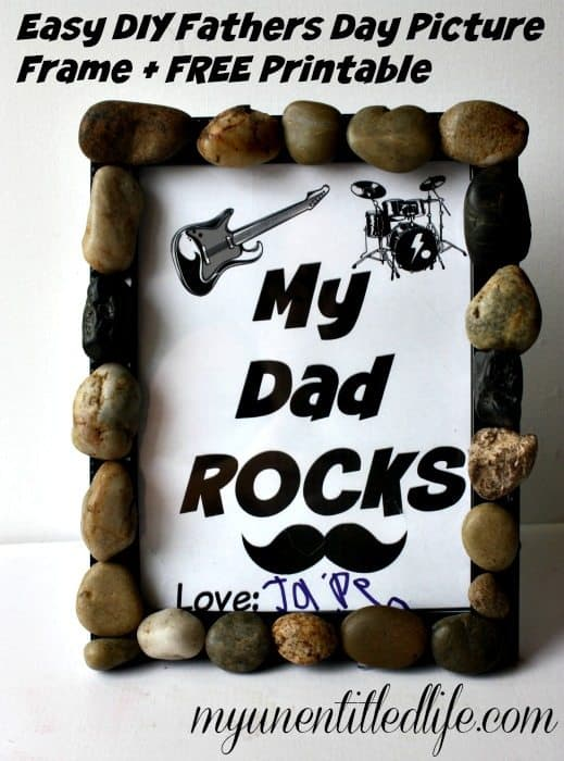 DIY fathers day picture frame