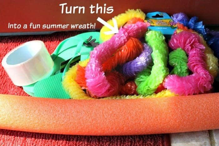 Summer Pool Noodle Wreath