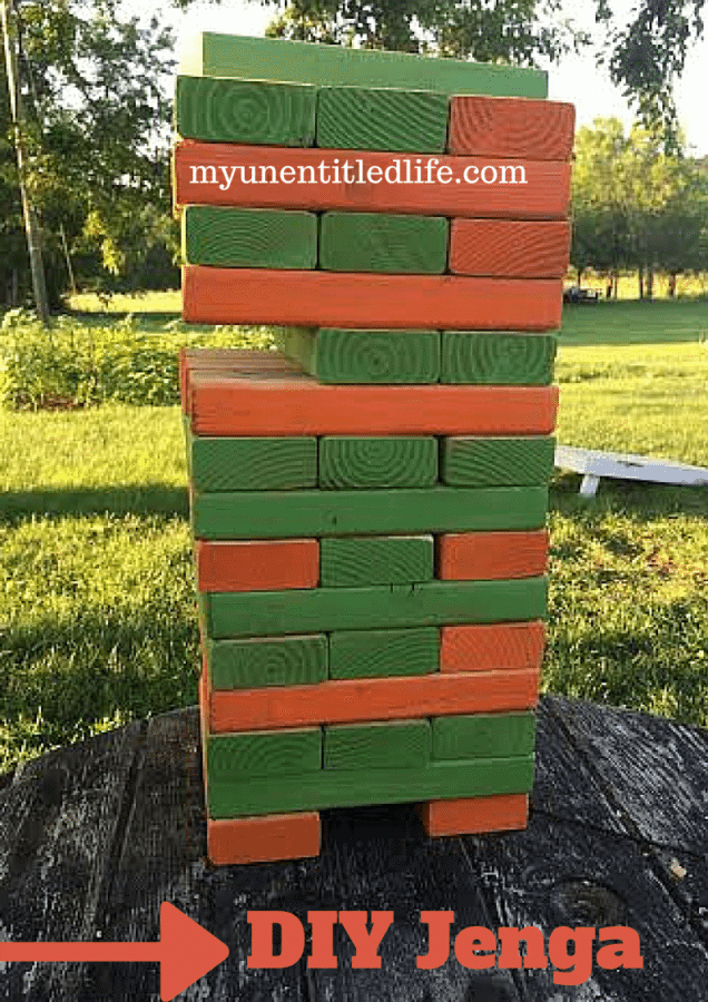 DIY Large Outdoor Jenga Game