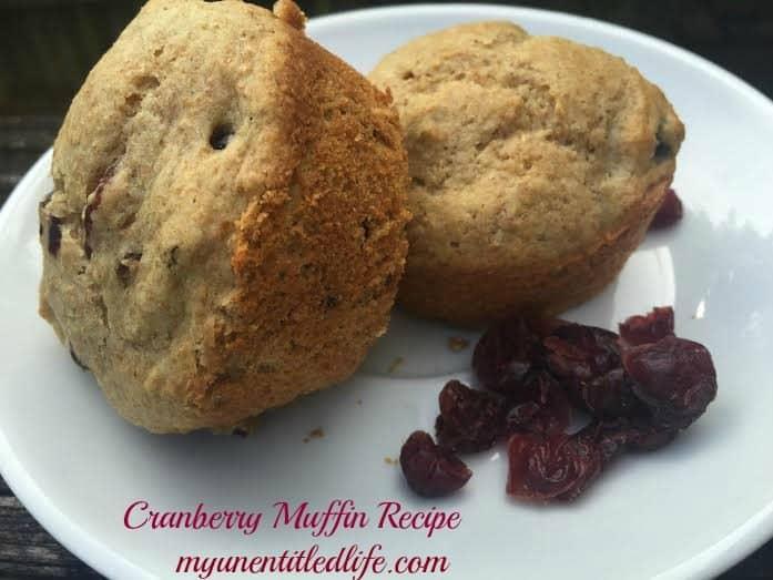 cranberry muffins recipe