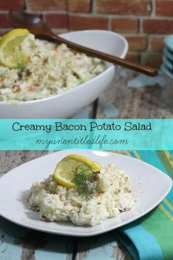 creamy bacon potato salad