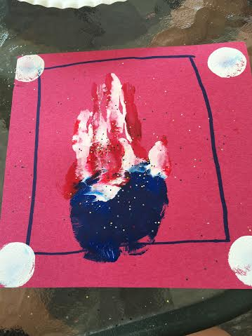 handprint craft july 4