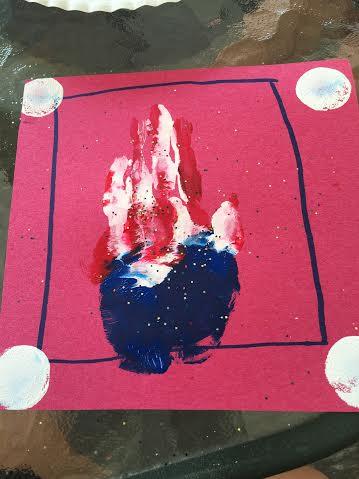 handprint craft july 4