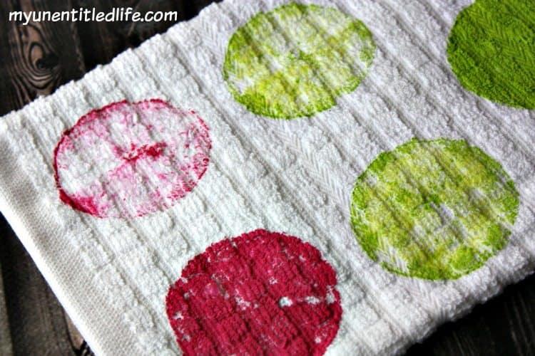 DIY Lemon Painted Tea Towel