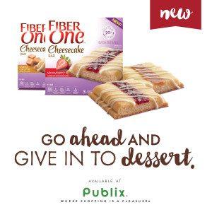 Fiber One Cheesecake Bars at Publix