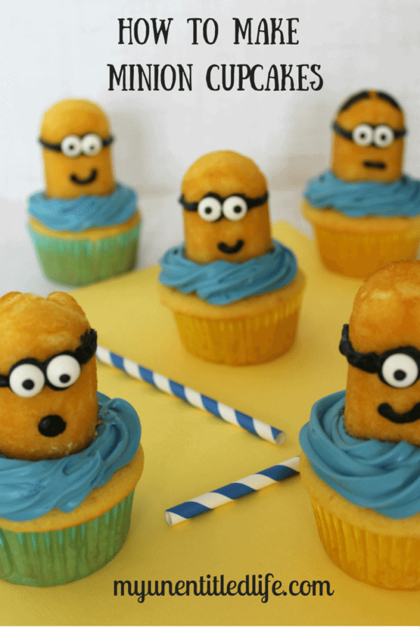 how to make minion cupcakes