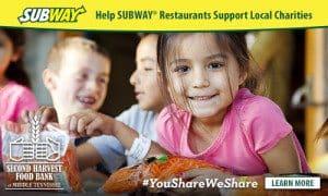 Subway gives back to charity