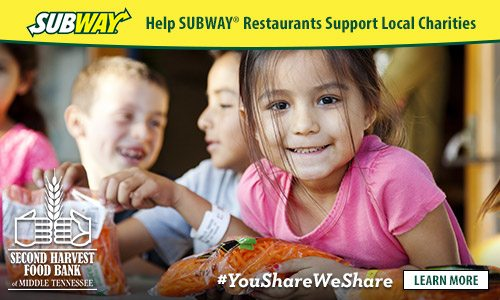 Subway gives back to charity