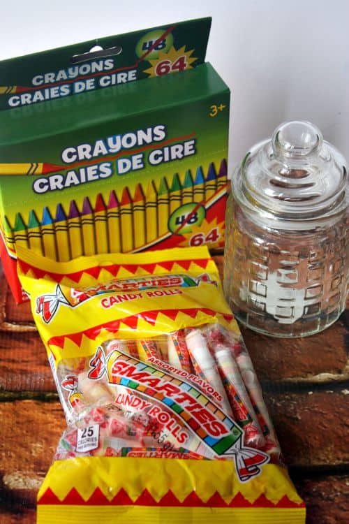crayon jar DIY