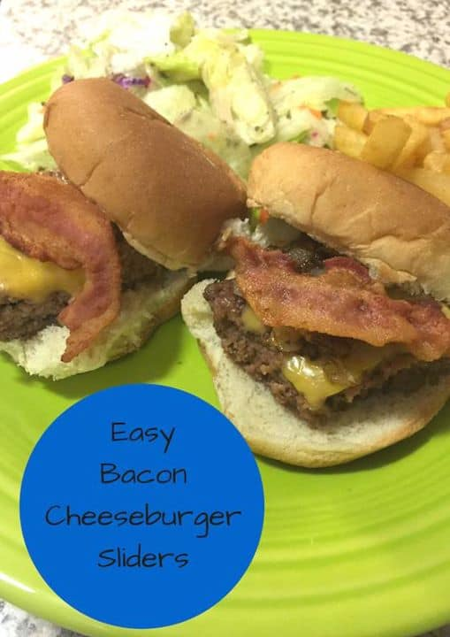 easy bacon cheeseburger sliders