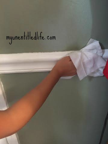 huggies wipes clean chair rails and baseboards