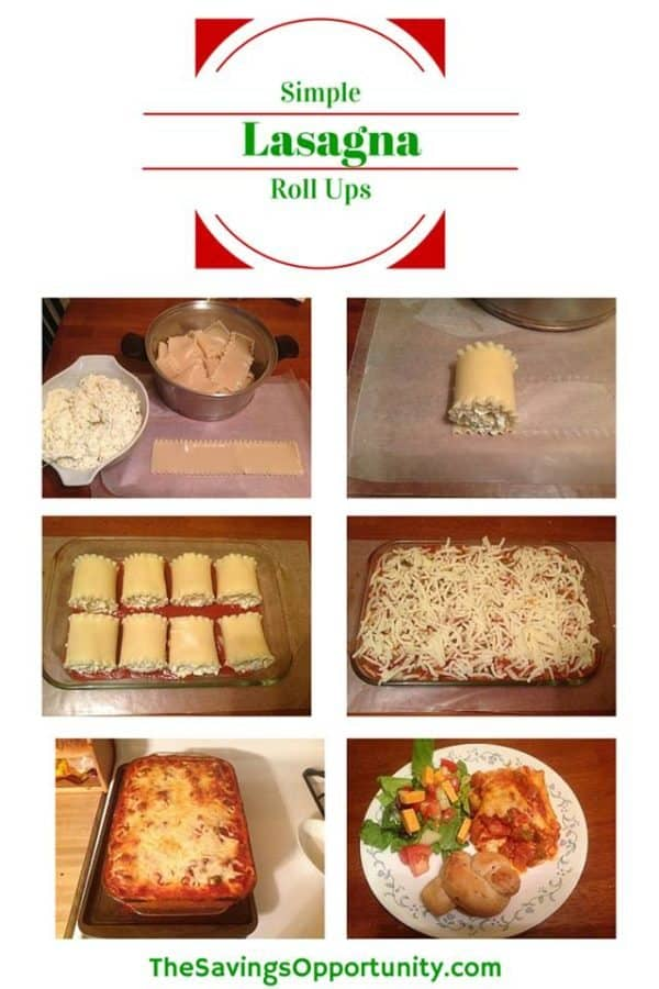 lasagne roll ups recipe