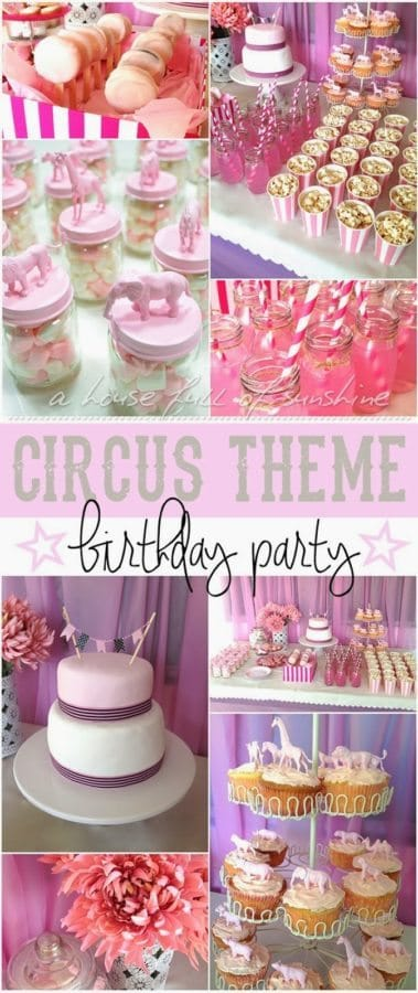 pink circus themed birthday