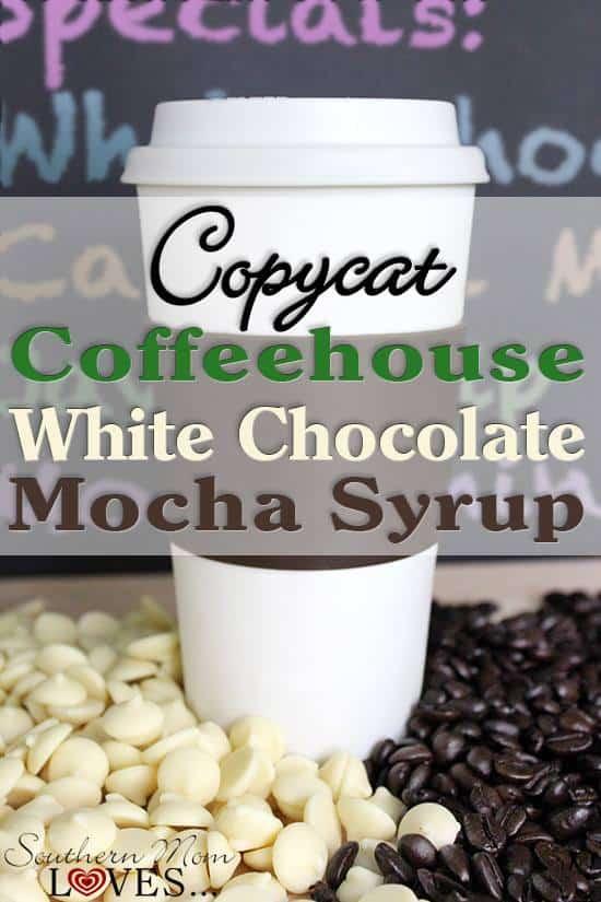 white chocolate mocha syrup recipe