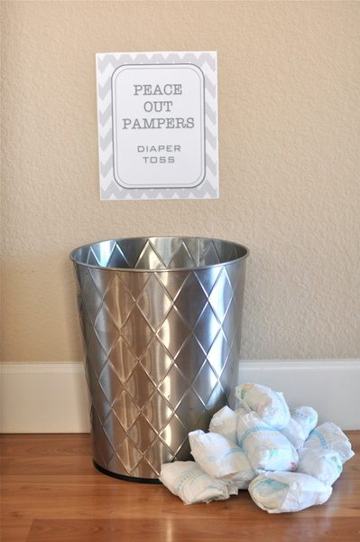 toss the diaper party game