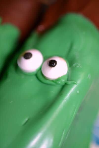 frankenstein treats green with eyes