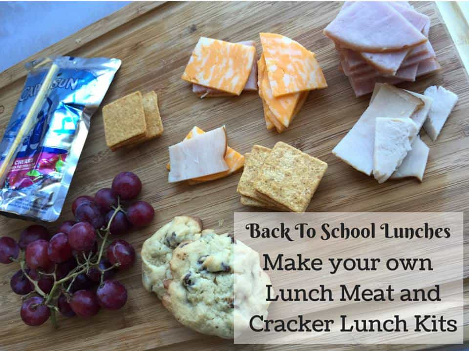 school lunch ideas lunch meat and crackers