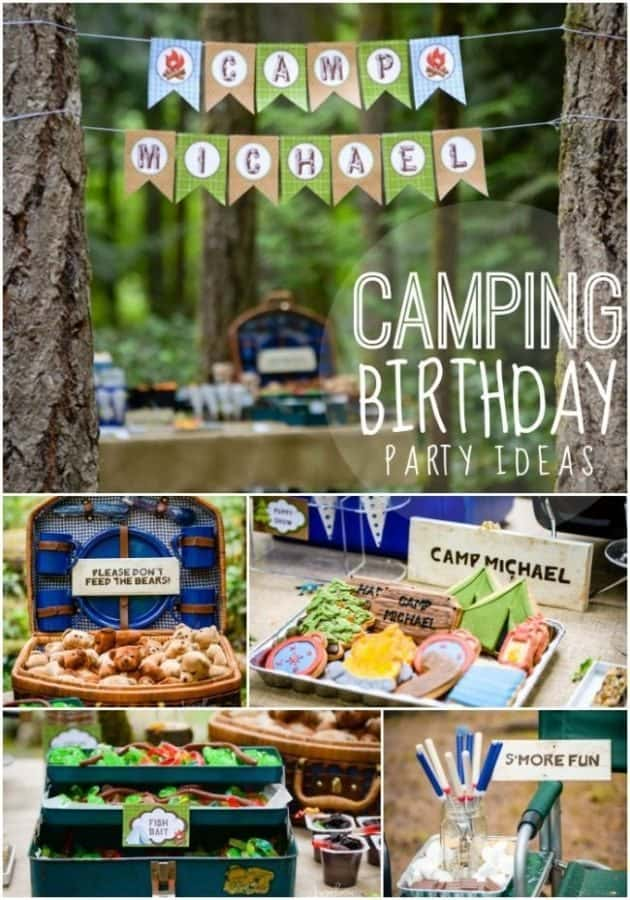 camping birthday party