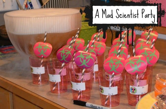 mad scientist themed birthday party
