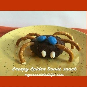 Creepy Spider Donut Snack fun