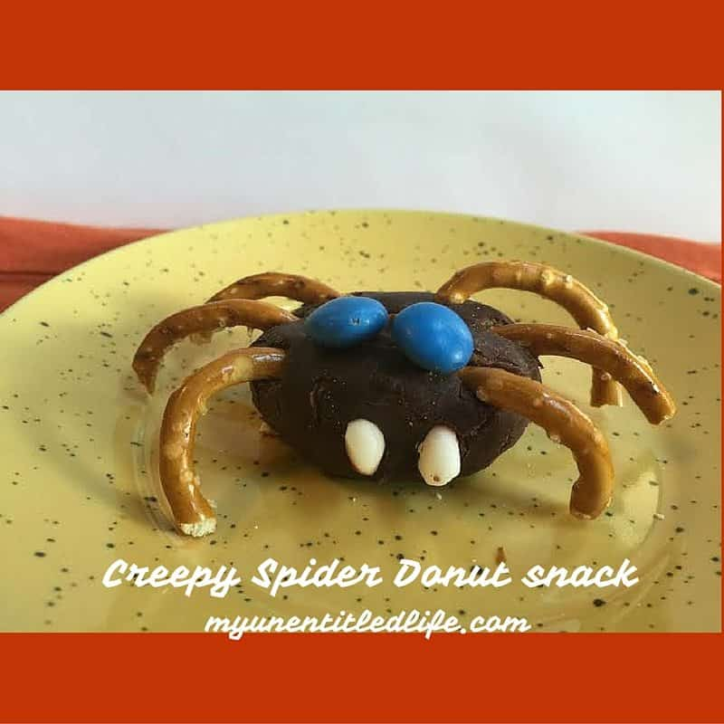 Creepy Spider Donut snack