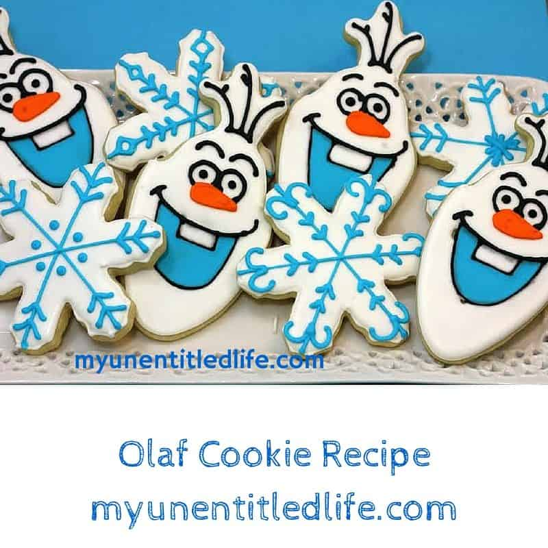 olaf cookie recipe from the movie frozen