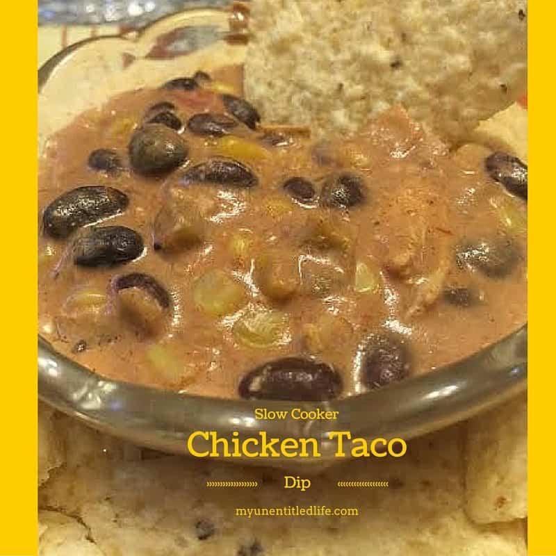 slow cooker chicken taco dip