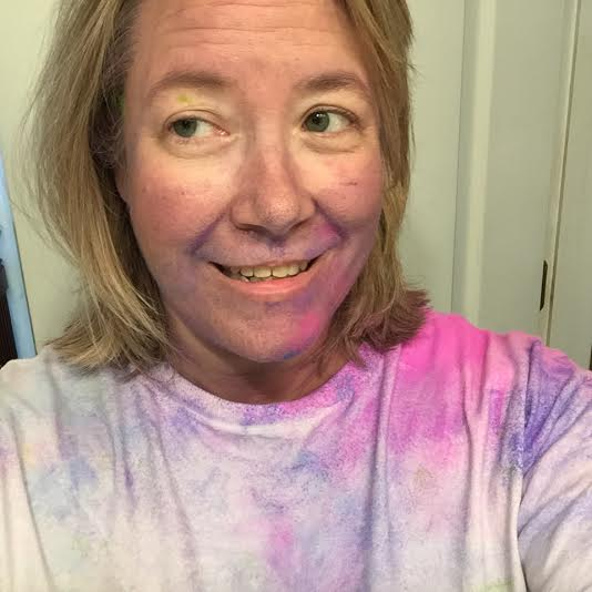 me after my 5k with color all over me