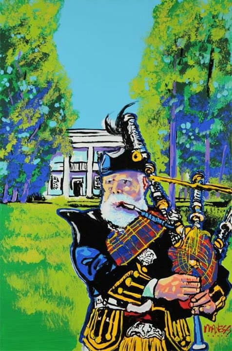 highland games painting