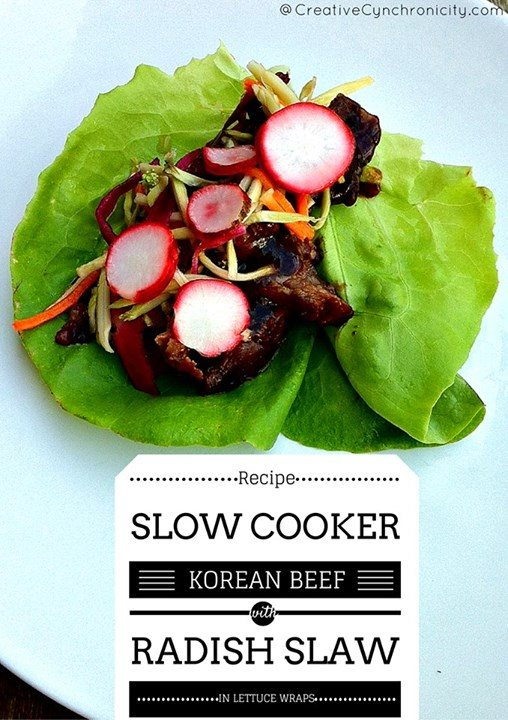 korean beef with radish slaw