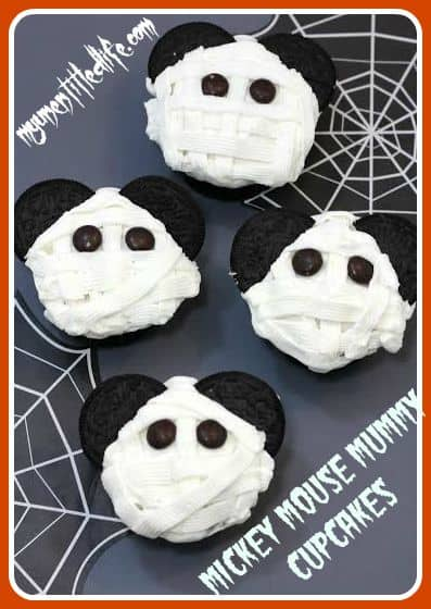 mickey mouse mummy cupcakes