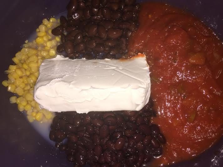 slow cooker chicken taco dip ingredients