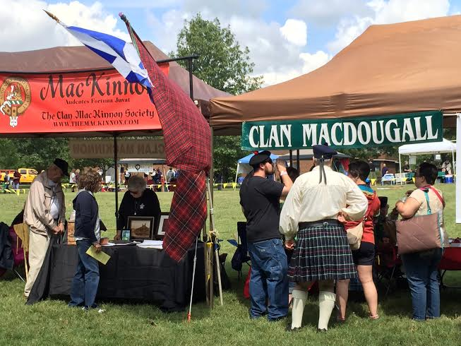 the clans at the middle tennessee highland games
