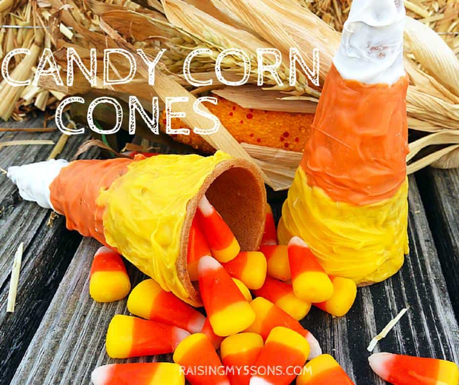 candy corn cones a great halloween treat